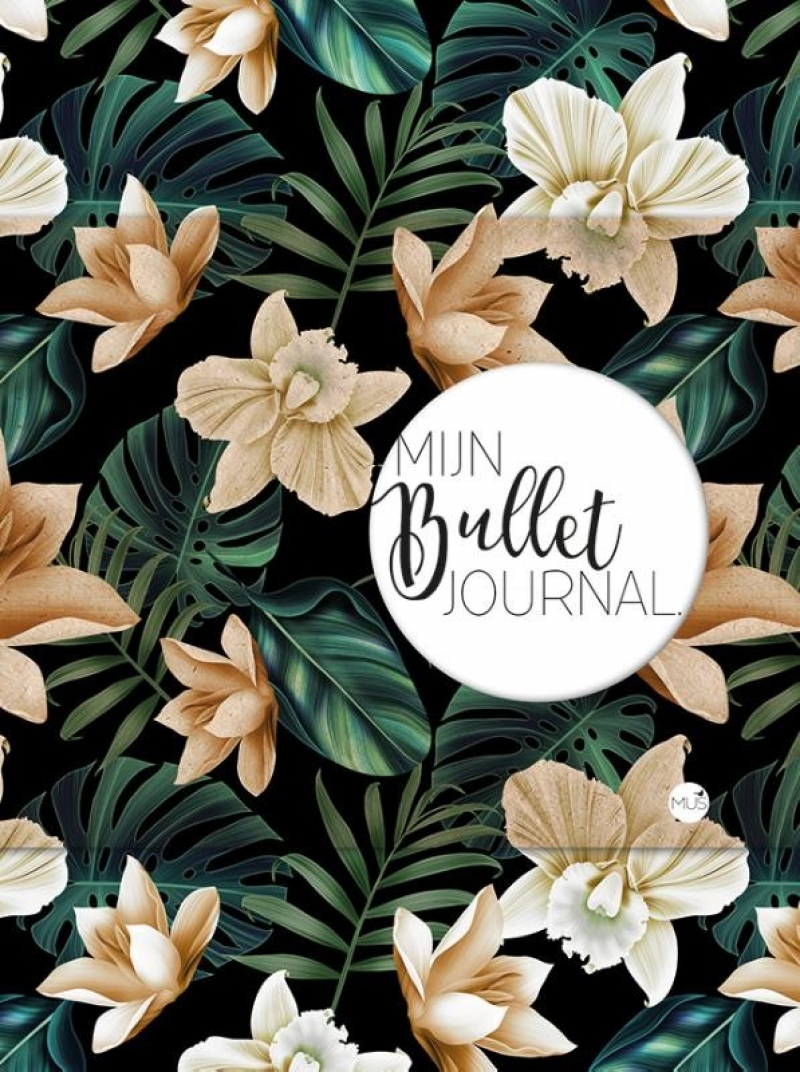 Mijn Bullet Journal - black flower