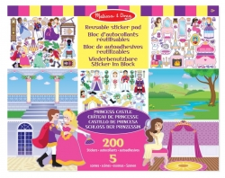 Herbruikbaar stickervel prinses