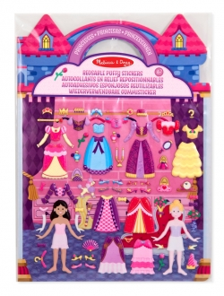 Herbruikbare puffy stickerblok (prinses)