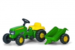 Kid John Deere + trailer