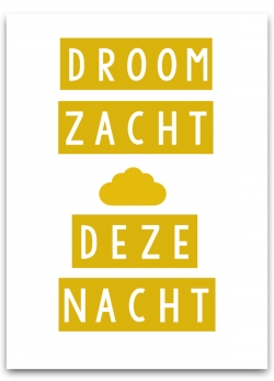 Poster A3 - Droom zacht