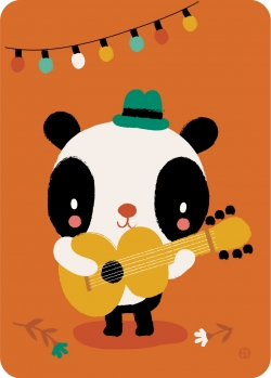 Postkaart Panda songwriter