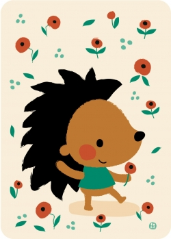 Postkaart Poppy hedgehog