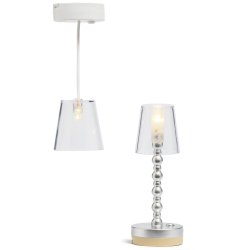 Set - Lampen transparant (vloer+hang)