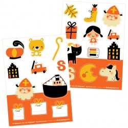 Stickers Sinterklaas
